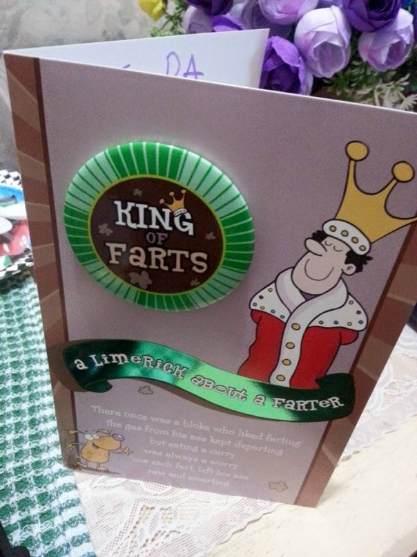 King Of Farts Card